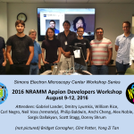 August 9-12, 2016 –  Appion Developers Workshop